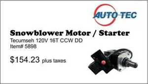 Starters / DC Motors for winter applications