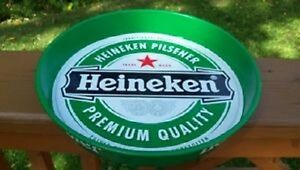 "Collectible 14"" Green Heineken Beer Serving Tray!"