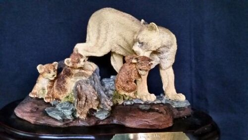 Mountain Lion/Cougar/Puma Family Figurine - by Encore NIB