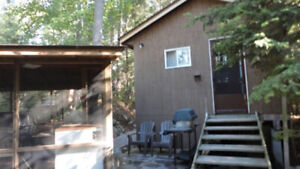 VIC-DAY WKEND3 BEDROOM - CABIN, MOTOR BOAT,CANOE, HOT TUB, SAUNA
