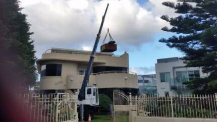 Lift Your Spa With a Crane