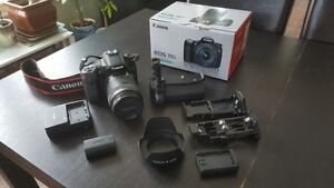 Canon 70 D 18-135 mm Lens Kit, Battery Grip and Extras!