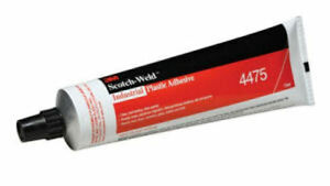 3M Scotch-Weld 4475 Industrial Plastic Adhesive Clear, 5 oz tube