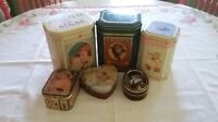 Assortment of 6 Vintage Tins
