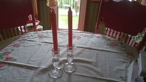 Two Crystal Candle Holders
