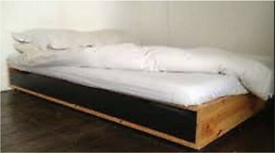 Ikea Black Brown And Pine Mandal Bed Frame With Without Mattress Matching Set Available