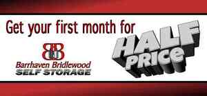 Self Storage- Save 50% first month!