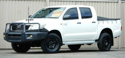 2011 Toyota Hilux KUN26R MY11 Upgrade SR (4x4) White 5 Speed Manual Dual Cab Pick-up Lismore Lismore Area Preview