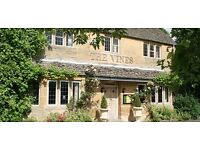 The Vines requires an expereinced kitchen assistant for food preparation and service .