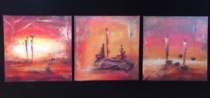 Ensemble de 3 toiles Marso