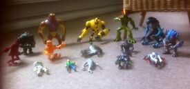 Original Ben 10 figures - 15 different characters including Ben 10 - collection only