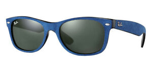 Ray-Ban RB2132 6239 58 New Wayfarer Blue Frame Sunglasses