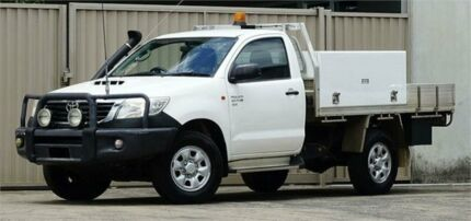 2012 Toyota Hilux KUN26R MY12 SR (4x4) White 5 Speed Manual Cab Chassis Lismore Lismore Area Preview