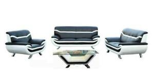 4 PC MODERN TWO TONE SOFA SET $ 1398