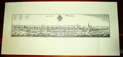 Braunschweig alte Ansicht Merian Druck Stich Panorama