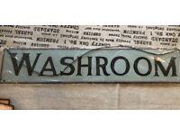 WASHROOM (BATHROOM) METAL SIGN - BRAND NEW