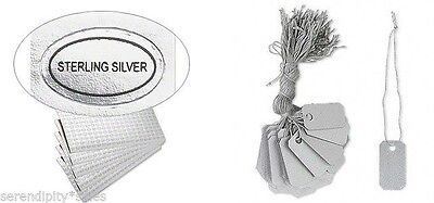 100 Pvc Jewelry Price Tags 1 X 12 W String 100 Sterling Silver Labels