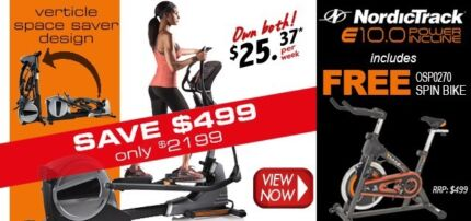 FREE $499 spin bike with the NordicTrack E10 xtrainer Booragoon Melville Area Preview