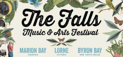 SELLING 1 X 3DAY FALLS FESTIVAL BYRON BAY AND 1 X CAMPING