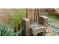 railway sleeper chair made by hubby