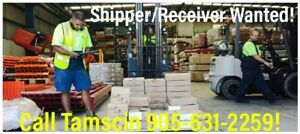 $18.00/hr - Shipper Receiver in Oakville