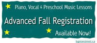 Registration for Fall Music Lessons