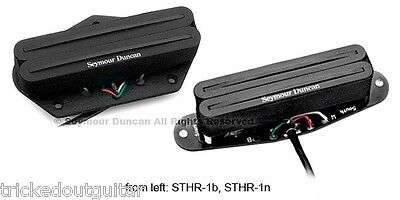 SEYMOUR DUNCAN TELE HOT RAILS STHR-1s TELECASTER HUMBUCKERS SET OF 2 NECK BRIDGE