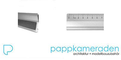 Schneidelineal Alu 100 cm, Aluminiumlineal, rutschhemmend mit Schneidekante,