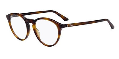 Christian Dior Montaigne 53 Prescription  Eyeglasses Dark Havana 50mm (Dior Havana Glasses)