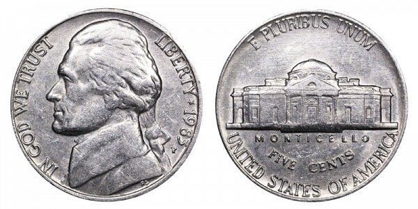 1983 P /& D JEFFERSON NICKEL Very Nice Circulated  Coins