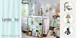 Nursery bedding and decor Lamb and Ivy Peek-A-Boo