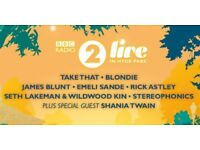 5 tickets for Radio 2 Live - Sunday 10 Sept 17 - Hyde Park