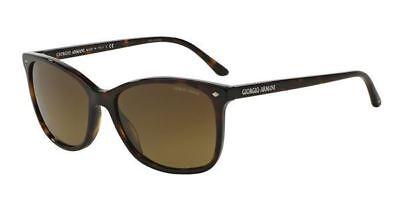 Giorgio Armani Sunglasses AR8059 5026/M7 57MM Havana Frame Brown Polraized Lens