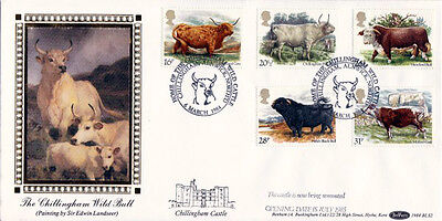 6 MARCH 1984 BRITISH CATTLE BENHAM BLS 2 FIRST DAY COVER CHILLINGHAM SHS