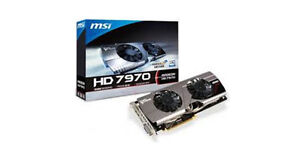 MSI Radeon HD 7970 Twin Frozr III OC $225 for one $375 for two