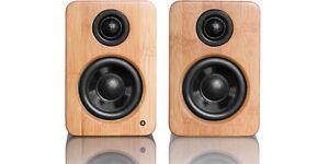 Kanto : Powered Yu2 Bamboo speakers + Subwoofer Sub6 Noir/Black