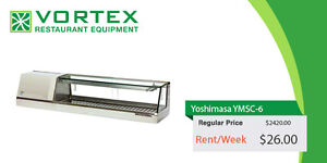 """Yoshimasa YMSC6-R 72″ Self-Contained Sushi Case """"Certified Used"""""""