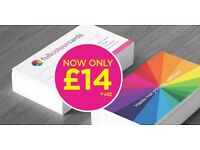 250 double sided business cards only £14 with free delivery or get 500 for £16