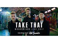 **2 x TAKE THAT WONDERLAND TOUR TICKETS** Manchester Arena Saturday 27th May