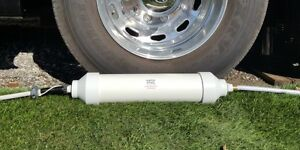 Portable Water Softener for RV or Boat.