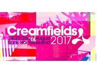 3 Creamfields Silver 4 day Tickets