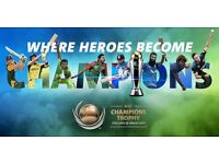 2 x GOLD TICKETS FOR ICC CHAMPIONS TROPHY 2017 FINAL OVAL 18th JUNE