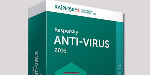 Kaspersky Antivirus 2017 3PC 1 Year protection license key
