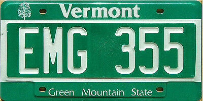 Vermont GREEN MOUNTAIN License Plate WINTER SNOW SKI SKIING