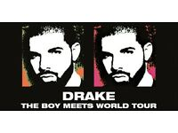 3 x DRAKE SEATED TICKETS - SUNDAY 12TH FEB 2017 - MANCHESTER ARENA