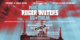 x2 Gold Circle tickets to see Roger Waters at BST Hyde Park