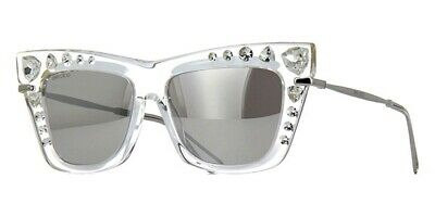 Jimmy Choo BEE/S HKT Crystal Silver Mirror Stones Transparent Women (Jimmy Choo Crystal Sunglasses)