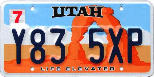 Utah License Plate ARCH - RANDOM PLATE#
