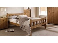 Aztec waxed pine 4ft6 double bed frame. Brand new in box. Free delivery