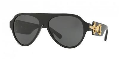 0bf9e17ed162 NWT Versace Sunglasses VE 4323 GB1 87 Black   Gray 58 mm VE4323 GB187 NIB